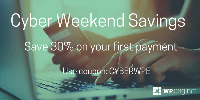 WPEngine - Hébergement WordPress discount pour Black Friday et Cyber Monday