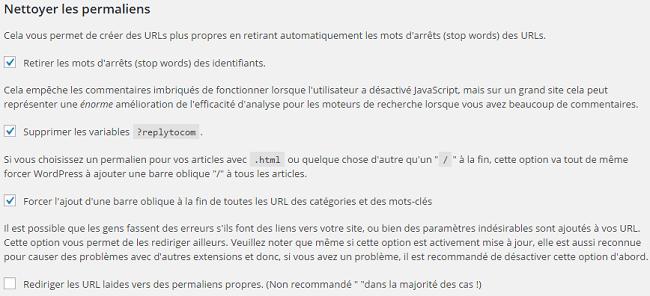 Nettoyer les permaliens, WordPress SEO by Yoast.