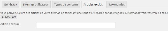 Articles exclus de la sitemap dans Yoast SEO