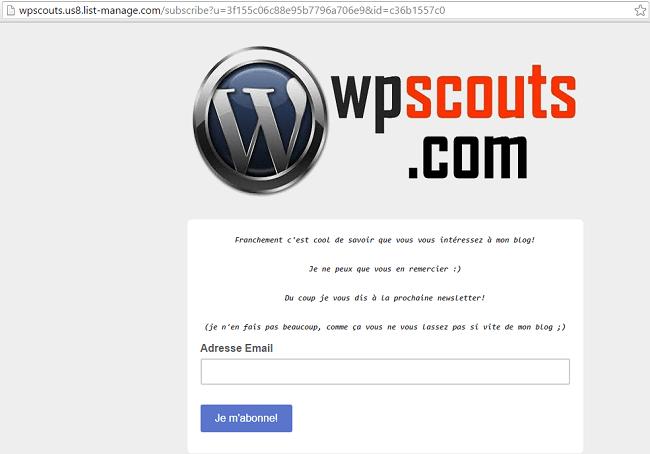 Formulaire WPScouts