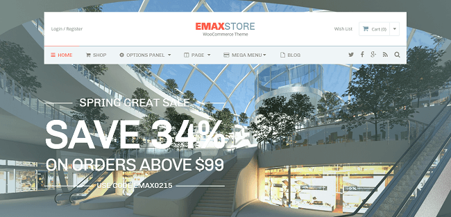 eMaxStore : eCommerce WordPress Theme