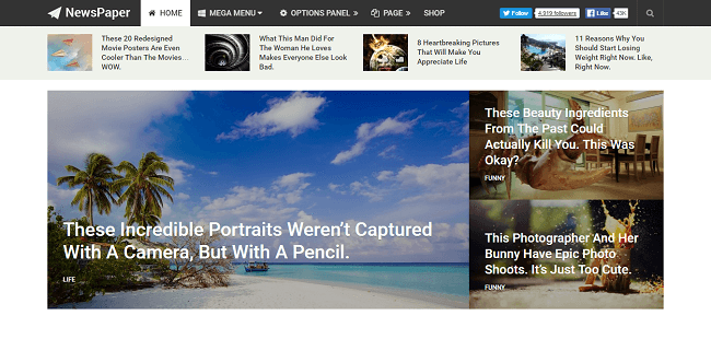NewsPaper - Thème WordPress Journal