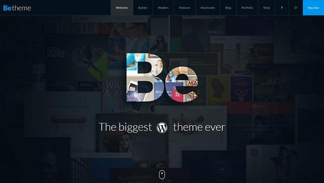 BeTheme - Un thème WordPress gigantesque avec un nombre infini de démos
