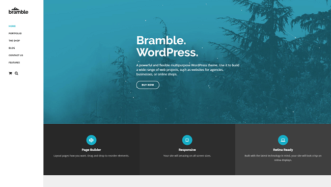 Bramble - theme wordpress pour agences, par Themetrust.