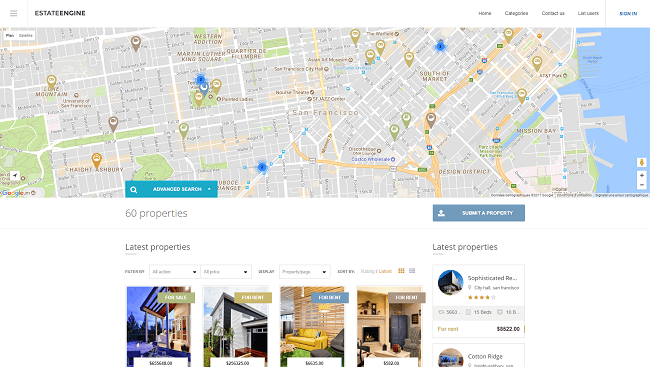 EstateEngine : Theme WordPress Agence immobilière en ligne