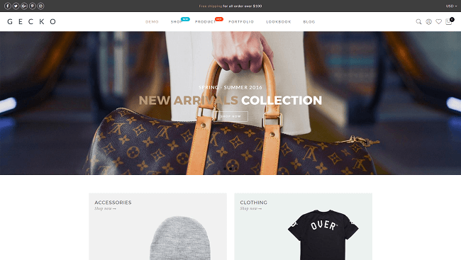 Gecko - template wordpress ecommerce