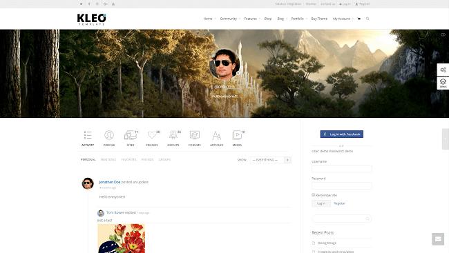 Kleo - Thème WordPress pour créer un forum, basé sur buddypress.