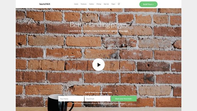Launchkit - Thème WordPress permettant de créer des landing pages