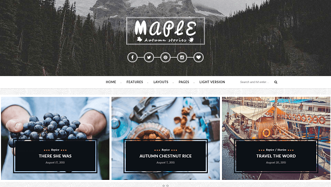 Maple - Theme WordPress Blog