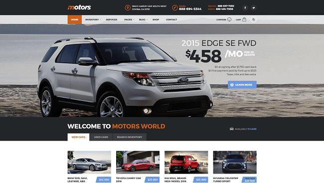 Motors - theme wordpress concessionnaire automobile et annuaire