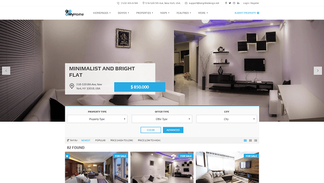 MyHome - Thème WordPress immobilier
