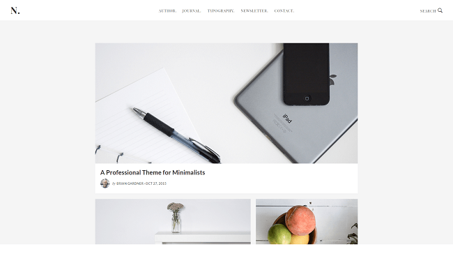 No Sidebar est un thème wordpress minimaliste