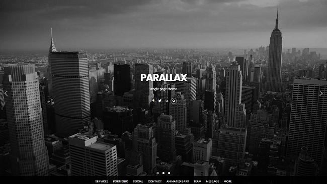 Parallax : Thème WordPress Business & Portfolio de style parallax. Par Themify.