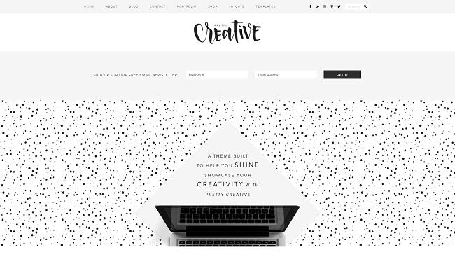 Pretty Creative - Thème WordPress pour les créatifs, par Studiopress.