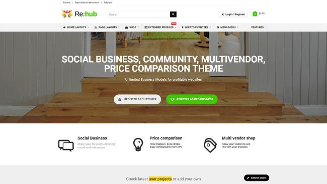 ReHub - thème wordpress communauté : comparateur de prix, plateforme de vente, etc.