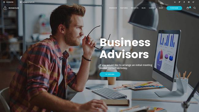 Roneous - Theme Créatif pour créer un site wordpress business