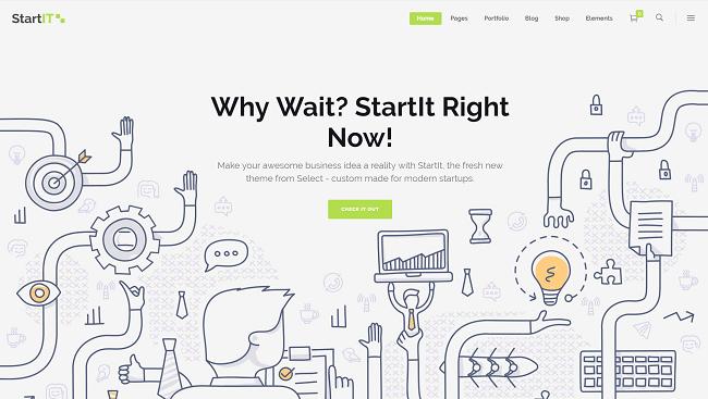 StartIT - Thème WordPress pour le créer le site web de votre startup IT
