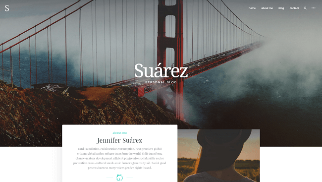 Suarez - wordpress blog theme