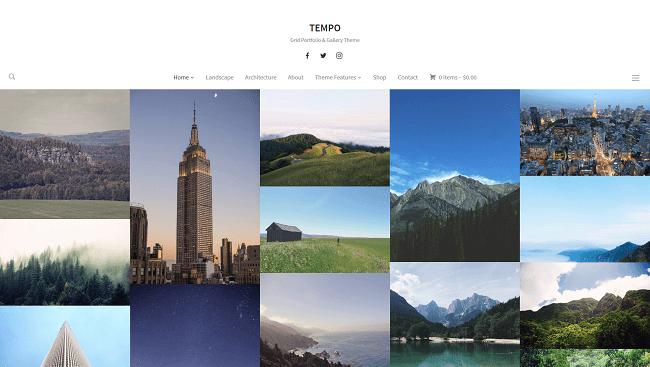 Tempo : Thème WordPress portfolio par WPZoom