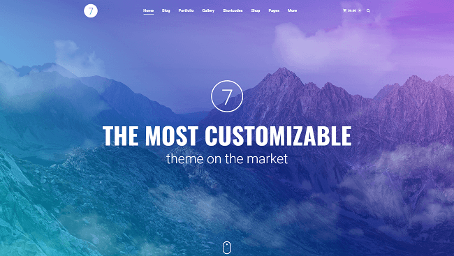 The7 - Thème WordPress best-seller sur themeforest