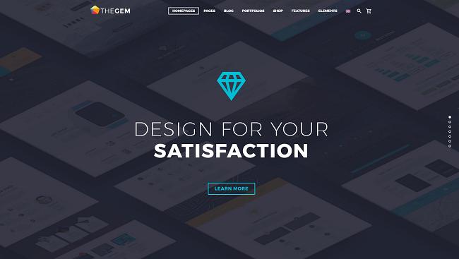 TheGem - Thème WordPress créatif, performant et optimisé pour le SEO
