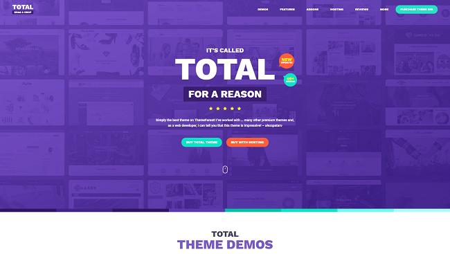 Total est un thème wordpress polyvalent pour créer son site vitrine