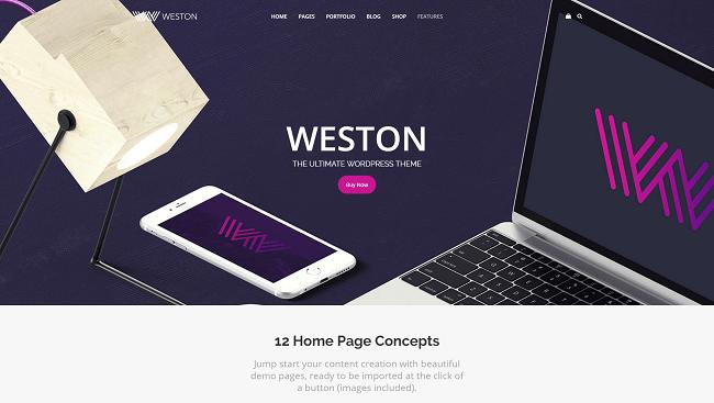 Weston - Thème WordPress Business Portfolio & Créatif
