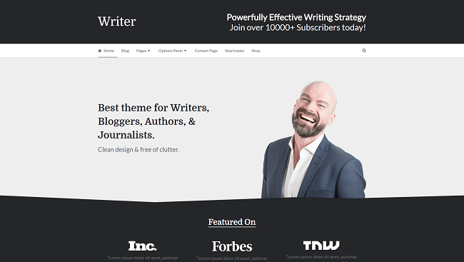 Writer - Thème WordPress pour auteur professionnel
