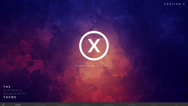 X - Un thème WordPress Business Corporate pour tout type de site vitrine