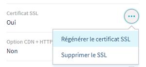 Régénérer le Certificat SSL sur OVH