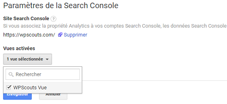 Lier Google Search Console à son compte Google Analytics