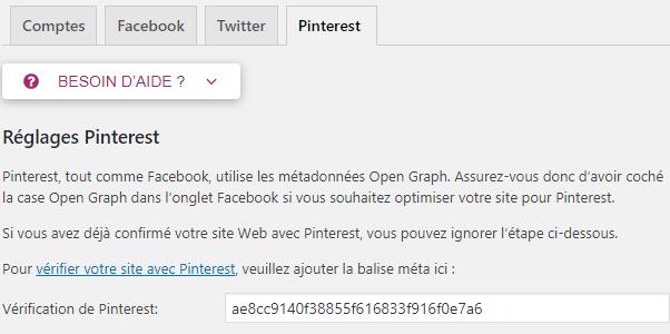 Yoast SEO : Pinterest
