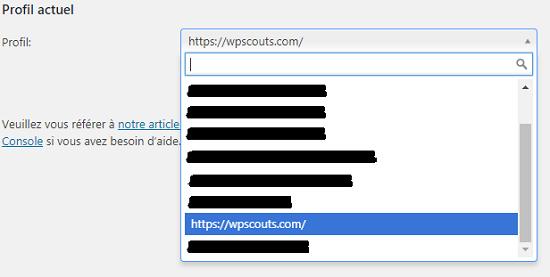 Profil Google Search Console pour Yoast SEO