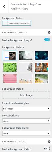 Comment changer l'image d'arrière-plan de la page de connexion avec LoginPress