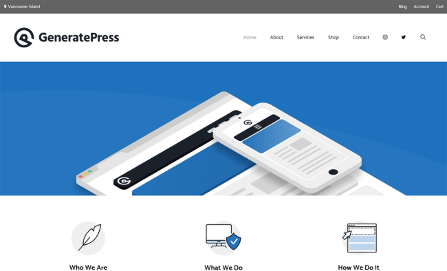 GeneratePress : Template WordPress Gratuit