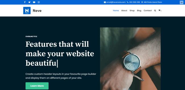 Neve : Meilleur Theme WordPress Gratuit pour Business et Entreprise