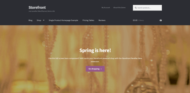 Storefront : theme wordpress e-commerce gratuit