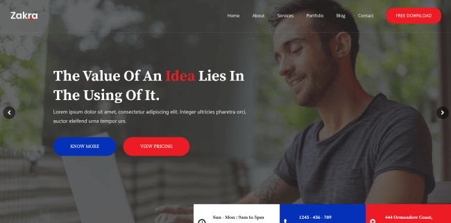 Zakra : Un theme wordpress gratuit pour site vitrine