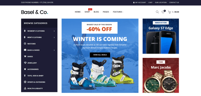 Basel : Theme WordPress eCommerce Responsive