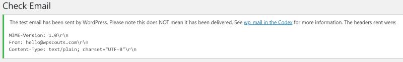 Check email : Confirmation d'envoi d'emails depuis son site WordPress