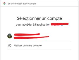Se connecter avec son compte Google