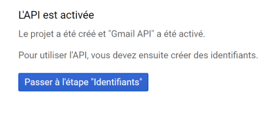 Gmail API créé