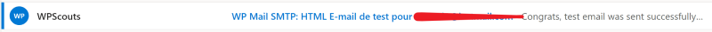Réception de l'email