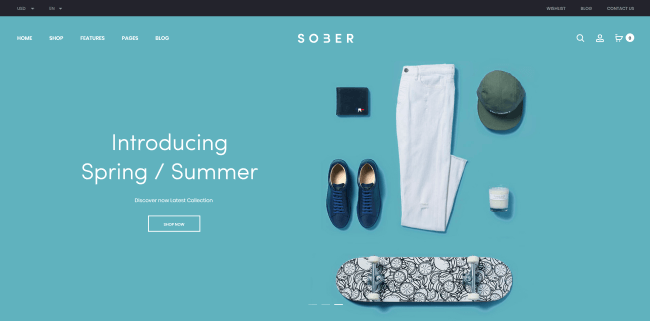 Sober : Theme WordPress eCommerce minimaliste pour shopping en ligne