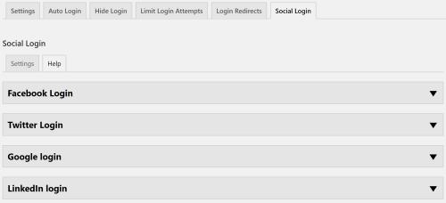 Social Login - Help