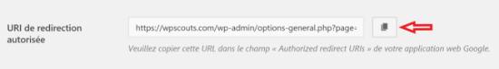 URI de redirection autorisée dans WP Mail SMTP