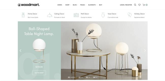 WoodMart - L'un des meilleurs thèmes WordPress ecommerce